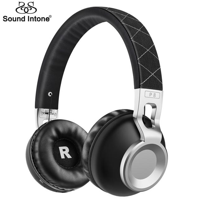 Sound intone p8 bass metal elástico diadema inalámbrica bluetooth apoyo tf tarjeta bluetooth 4.1 auriculares auriculares con micrófono