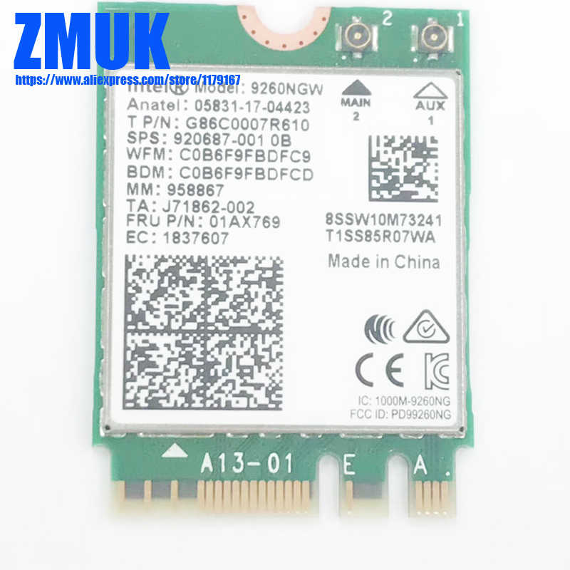 Detail Feedback Questions about Intel Dual Band Wireless AC 7260