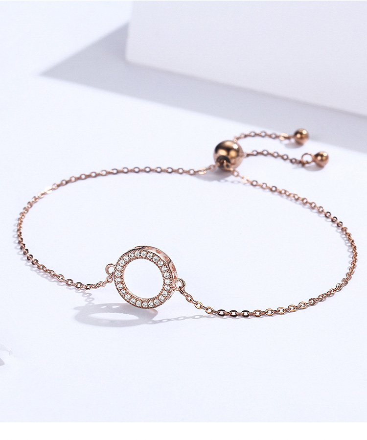 HTB1YR0EaRv0gK0jSZKbq6zK2FXag BAMOER Trendy 925 Sterling Silver Glittering Round Circle Chain Link Strand Bracelets for Women Sterling Silver Jewelry SCB030