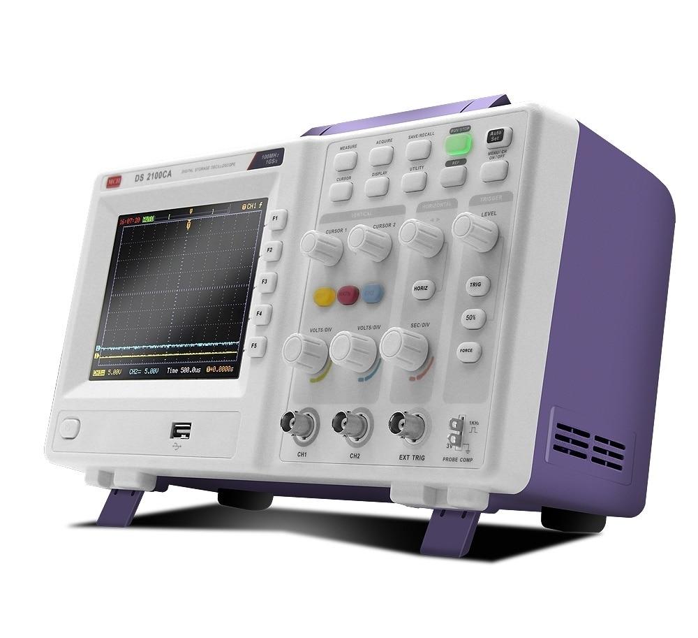 MCH Digital Oscilloscope Storage Oscilloscope Dual Channel Oscilloscope Sampling 1G 100MHZ DS 2100CA in Oscilloscopes from Tools
