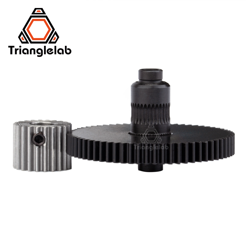 Trianglelab 3d printer reprap Titan Extruder spare parts gear Hobb (Hardened Steel) & stepper motor mk8 i3 trianglelab 3d printer titan extruder new metal gear hobb hardened steel free shipping reprap mk8 i3