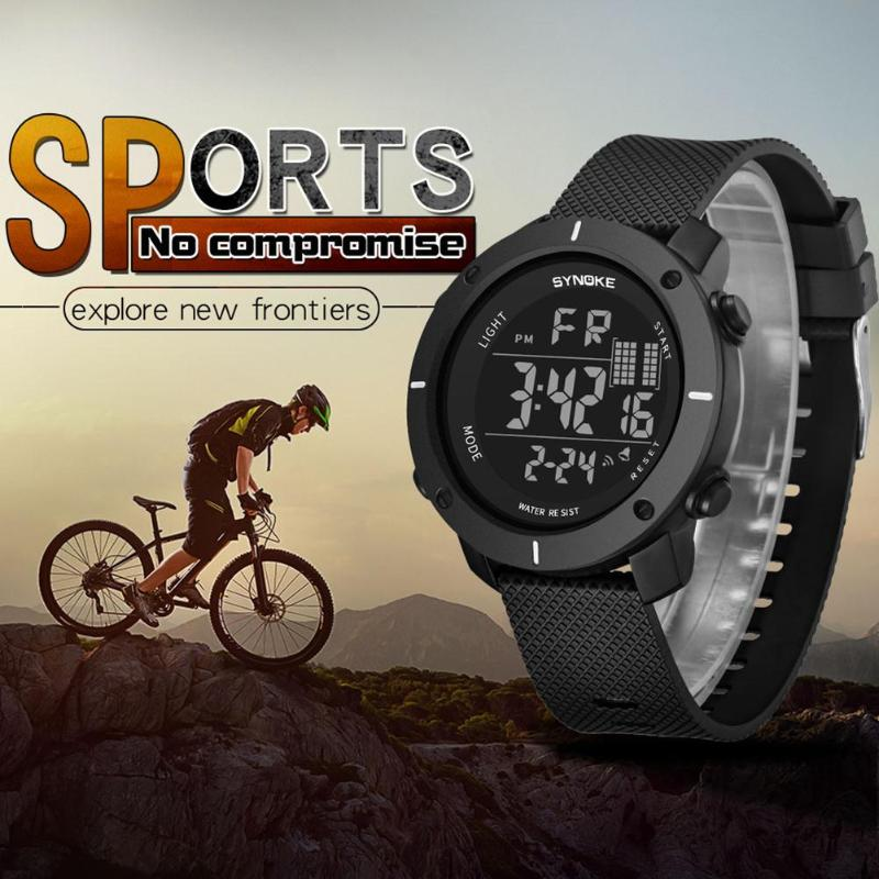 Outdoor Men Compass Sports Watches Hiking LED Electronic Digital Watch Men Teenage Waterproof Electronic Digital Wristwatches sports outdoor multifunction electronic watch for men