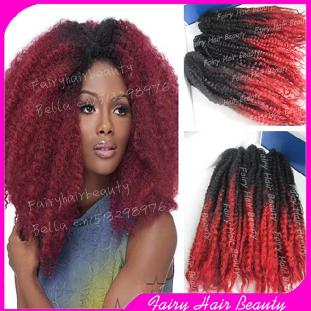 Stock 20 Fold Black Red Ombre Box Braids Cheap Synthetic Two Tone