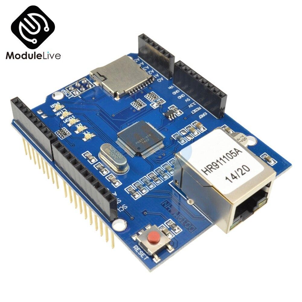 W5100 R3 di Rete Ethernet Shield Modulo Scheda di Espansione Per Arduino UNO Mega2560 Mega1280 On-Line Micro SD Duemilanove