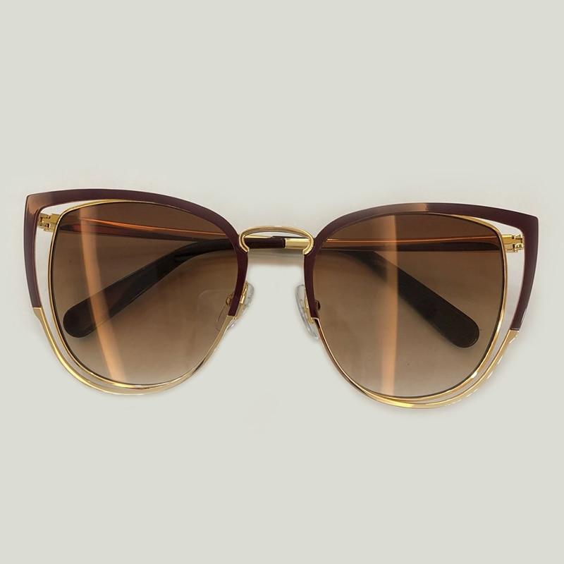 Donne Femal no3 Sunglasses Qualità Le no2 Gatto Occhiali Alta Da Sole no4 No1 Scava Sunglasses Sunglasses Modo Occhio Fuori Di Sunglasses Sunglasses no5 Accessori 2019 Per Variopinto aAxq00