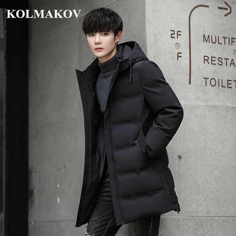 moownuc 2018 Men's Casual   Down   Jackets Mens 75% White Duck   Down     Coats   Men Jackets Top Quality Thicken Overcoats Male Outwear