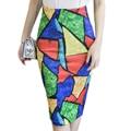 New Print Women Office Skirt autumn Summer Skirt Knee-Length Pencil Skirt Back Split Hip Package Ladies Skirt Slim
