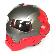Helle Grau Rot MASEI IRONMAN Iron Man helm motorrad helm halb helm open face helm casque motocross S M L XL(China)