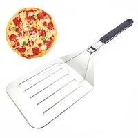Cake Spatula Pizza Shovel Slotted Turner Stainless Steel Oversize Kitchenware Western Baking Tool Thick Dinner Tool Shovel 1pcs