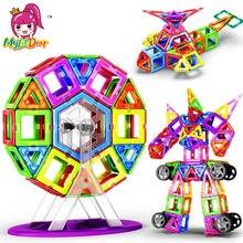 Новинка 180 шт. Мини Магнитный конструктор Набор для строительства модель и строительные игрушки пластиковые магнитные блоки Развивающие игрушки для детей подарок