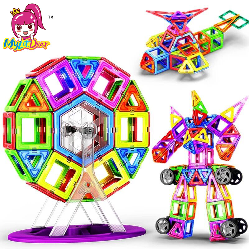 New 180pcs Mini Magnetic Designer Construction Set Model & Building Toy Plastic Magnetic Blocks Educational Toys For Kids Gift