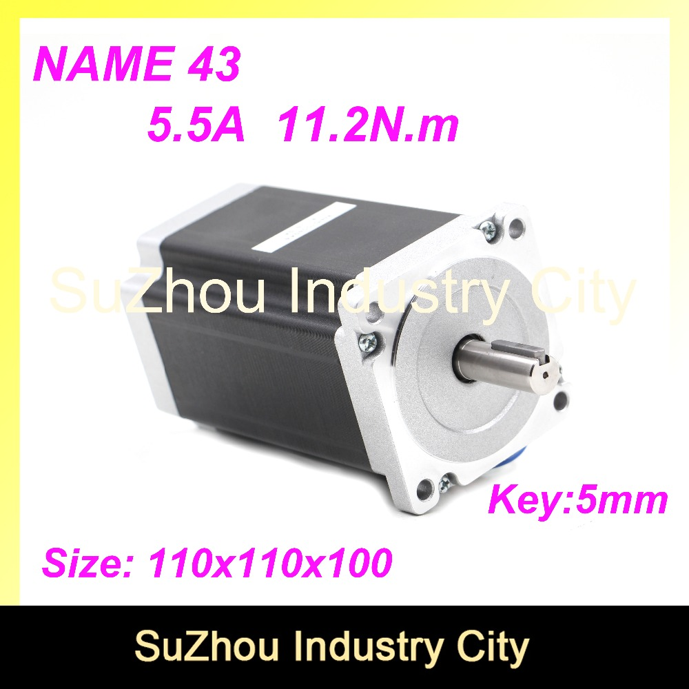 купить High Torque NEMA43 CNC stepper motor 110mm motor length 100mm torque 11.2N.m 5.5A shaft 19mm stepping motor for CNC Machine по цене 4895.82 рублей