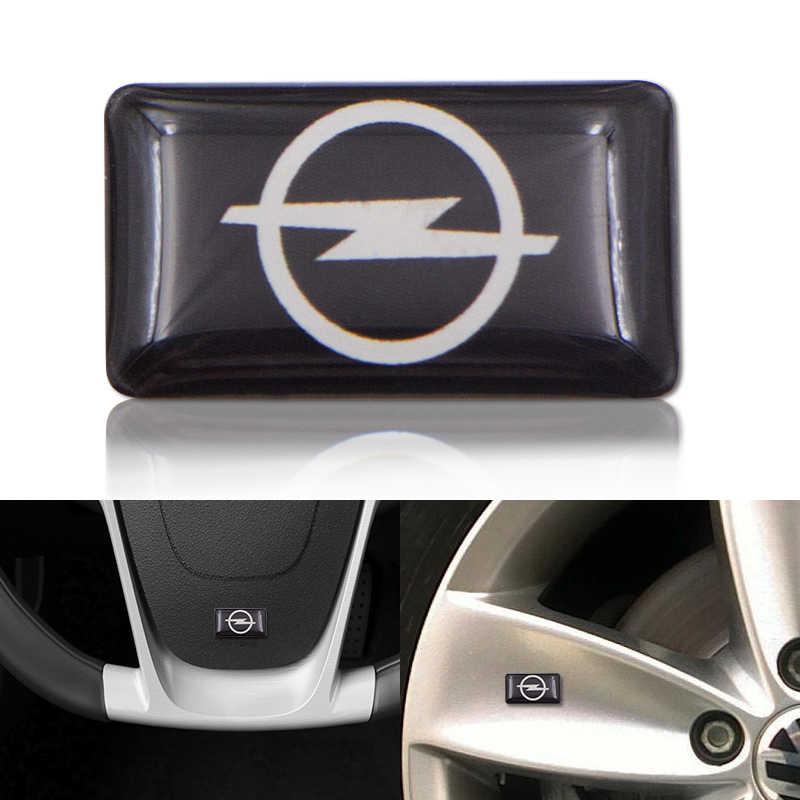 1 pièces voiture style volant 3D petit emblème autocollant roue décalcomanie Fit pour Opel Astra H G J Corsa Insignia Antara Meriva Zafira