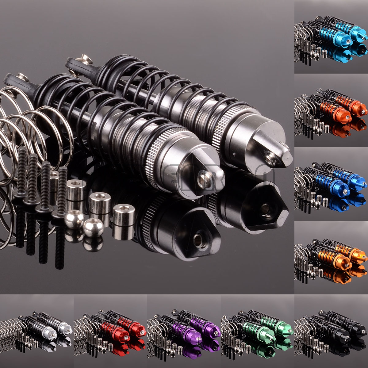 NEW ENRON Aluminum Front/Rear Oil Shock Absorber SLA023-24 For RC Traxxas Slash 4x4 Stampede