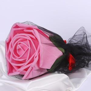 Image 3 - גדול קצף ורדים עם גבעולים ענק פרח ראש מתנת יום הולדת חג האהבה חתונה תפאורה רקע ספקי צד