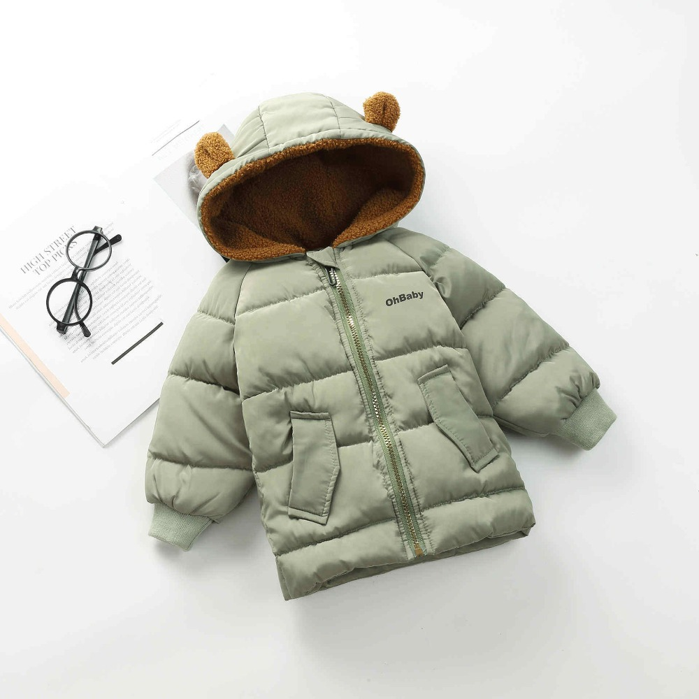 BibiCola 2018 Hot Selling Winter Coat Hooded Outerwear Jackets Down Parkas Thickening Children Coat Baby Boys Clothes for 2-7T цена