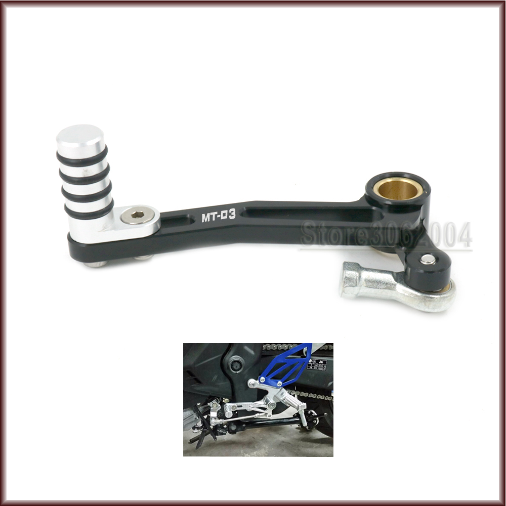 For YAMAHA MT03 MT-03 MT 03 2015-2016 Motorcycle Accessories Aluminum Adjustable Gear Shift Lever Shifter Pedal CNC for yamaha mt25 mt03 mt 25 mt 03 2015 2016 balance shock front fork brace motorcycle accessories cnc aluminum