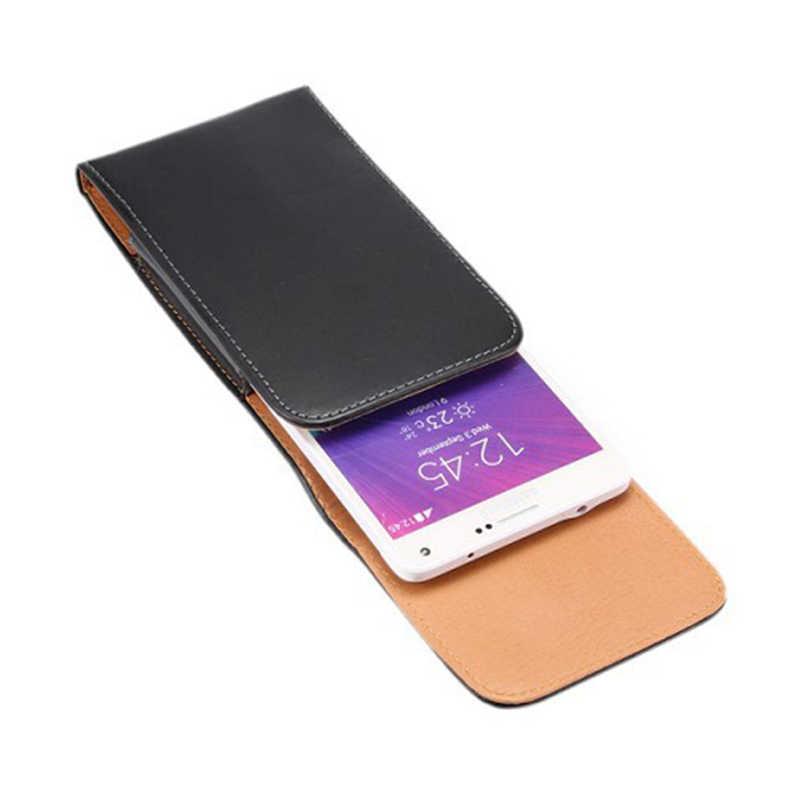 Kasus untuk Digma Pertama XS350 2G Olahraga Pinggang Sabuk Klip Ponsel Sarung Kulit untuk Digma Hit Q400 3G Linx A420 3G VOX A10 3G