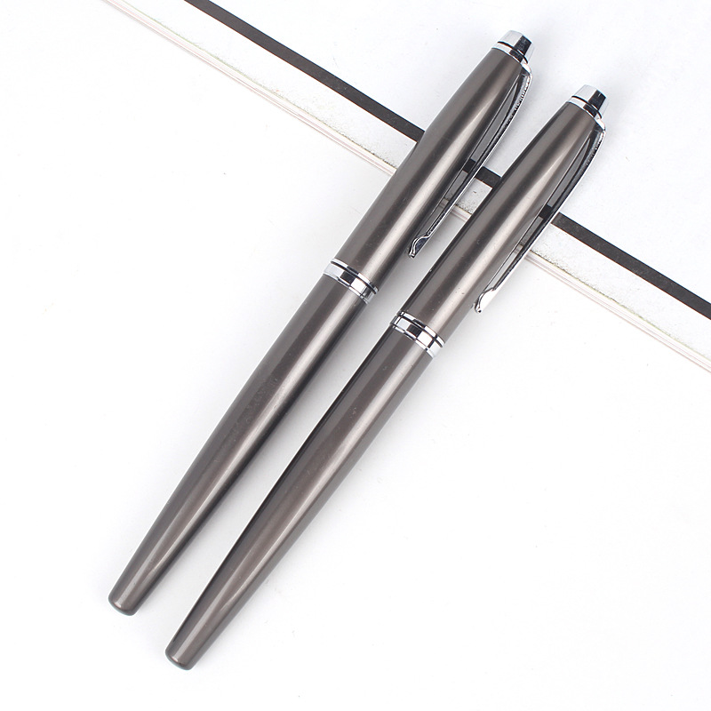 DHL fast shipping 100pcs/lot China factory luxury hot sale metal ball pen metal pen wholesale roller pen wholesale price hand polished brass pen hexagonal shape automatic copper pen 100pcs lot