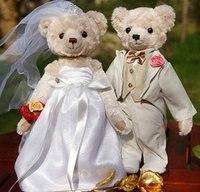 Noel hediyesi düğün hediyesi teddy bear peluş oyuncak çift oyuncak ayı freeshipping