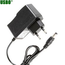 100-240 В AC к DC Мощность адаптер питания переходник для зарядного устройства 3 В 5 В 6 В 7 В 7,5 В 9V 12V 1A США ЕС Разъем 5,5 мм x 2,5 мм DC разъем для маршрутизатора