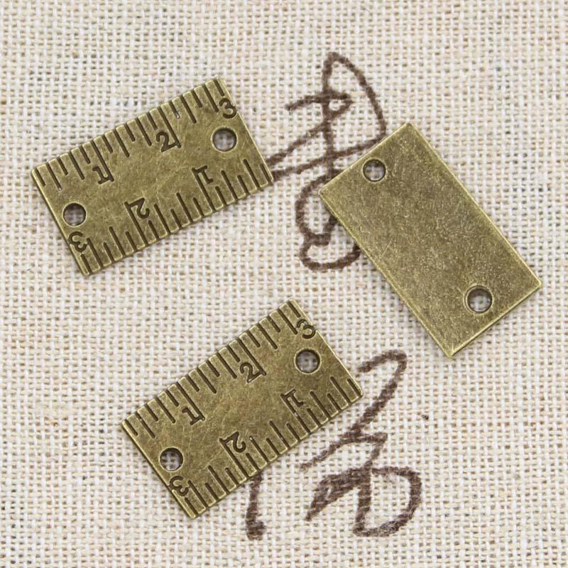 Der Anhänger Fit Bekomme Eins Gratis Vintage Tibetischen Bronze Diy Armband Halskette Kaufe Eins 8 Stücke Charms Herrscher 21x12mm Antike