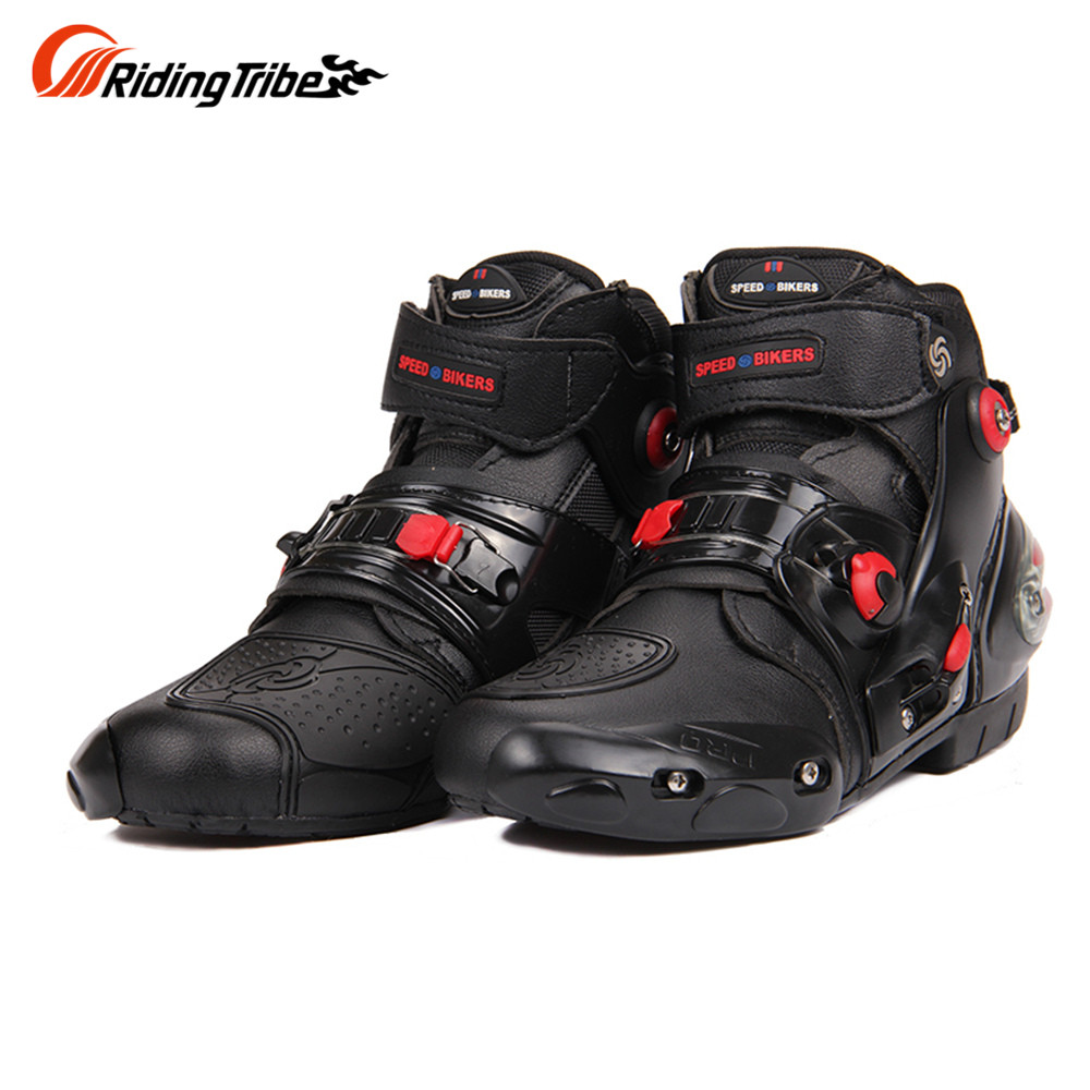 Riding Tribe Motorcycle Racing Ankle Joint Protection Motorcycle Boots Motorcycle Riding Boots Men Motorcycle Short Boots A9001 scoyco motorcycle riding knee protector extreme sports knee pads bycle cycling bike racing tactal skate protective ear