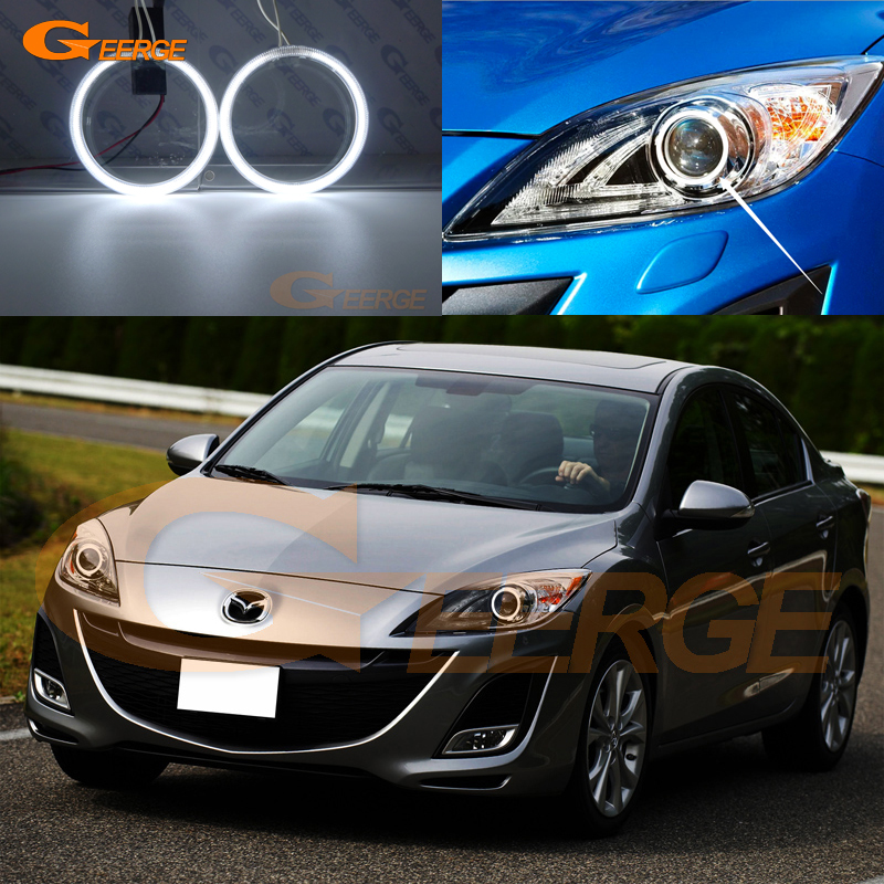 For mazda 3 mazda3 BL SP25 MPS 2009 2010 2011 2012 2013 Excellent Ultra bright illumination CCFL Angel Eyes kit for mazda 3 mazda3 bl sp25 mps 2009 2010 2011 2012 2013 excellent ultra bright illumination ccfl angel eyes kit