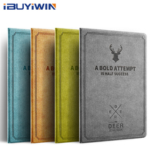 купить iBuyiWin Case for iPad Air 1 2 3D Deer Pattern Magnetic Stand Smart Cover Auto Sleep/Wake PU Leather Case for iPad 5 6 9.7+Film дешево