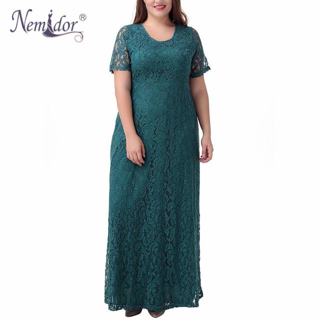 2017 Elegant Lace Party Dress Plus Size 7XL 8XL 9XL
