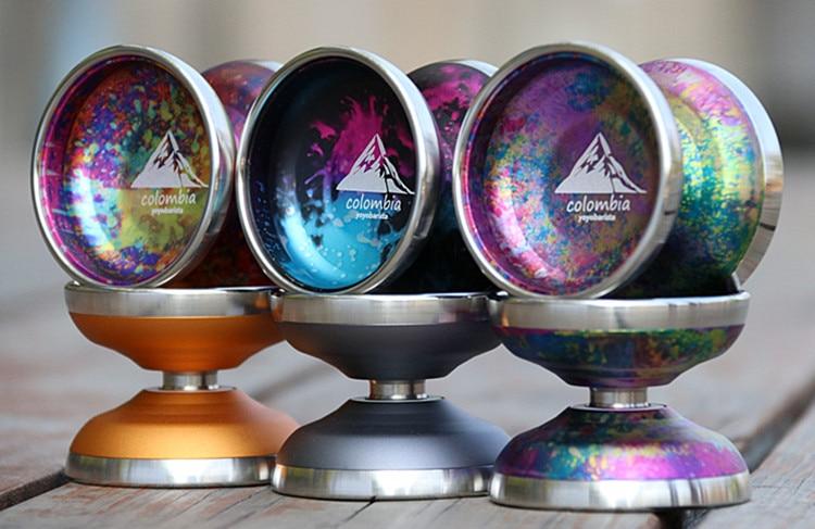 새로운 도착 yoyobarista 콜롬비아 yoyo professionnel 6061 알루미늄 금속 스테인레스 스틸 외부 반지 yoyo-에서요요부터 완구 & 취미 의  그룹 1