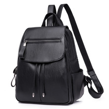 цены на PU Leather Backpack For Women Fashion School Bags Teenager Girls Casual Women Backpacks Large Capacity Female Travel Zaino в интернет-магазинах