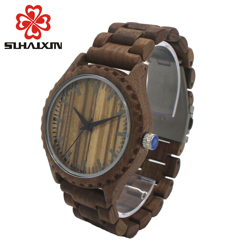 Mens Watches Luxury Brand Wood Watch for Man Newest Analog Quartz Watch Maple Walnut Wooden Band Wrist Watch for Male Clock Gift voxlink 4 port hdmi 2 0 hdr splitter extender 1x4 1 in 4 out full hd 1080p 4k 60hz support hdcp2 2 3d for pc dvd stb