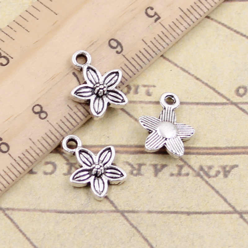 8pcs Flamingo Charms Tibet silver Charms Pendants DIY Jewellery Making crafts