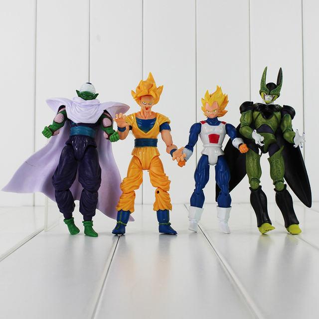 8Pcs Dragon Ball Z Freeza Piccolo Vegeta Trunks Son Gohan Kuririn