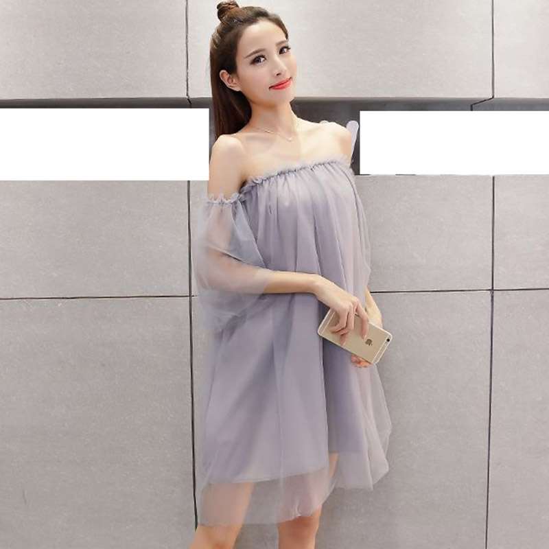 8eec4310e3a Summer dress Womens dress sexy wrapped chest beauty temperament yarn Above  Knee