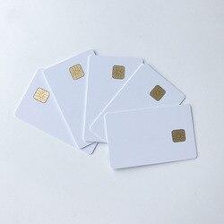 50 pièces/lot blanc jet d'encre imprimable SLE4428 carte à puce contact pvc carte de crédit taille d'impression par epson ou canon imprimantes à jet d'encre
