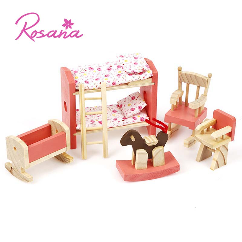 Kids Bedroom Furniture Kids Wooden Toys Online: Aliexpress.com : Buy Rosana Mini Wooden Bedroom Kids Play