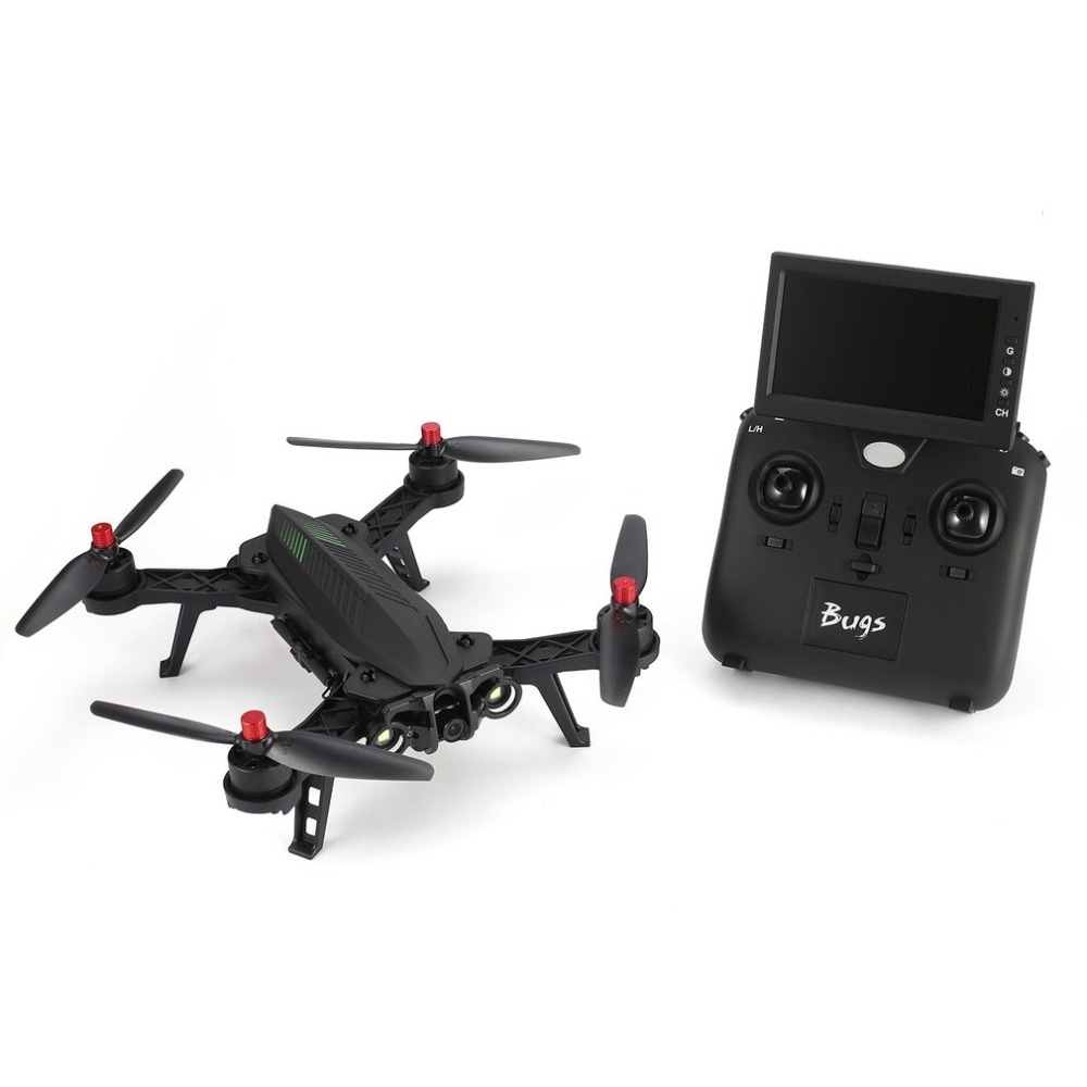 MJX Bugs 6 B6 2.4 ghz 4CH 6 Axe Gyro RTF Drone Avec HD 720 p 5.8g FPV Caméra et 4.3 LCD RX Moniteur Brushless RC Quadcopter
