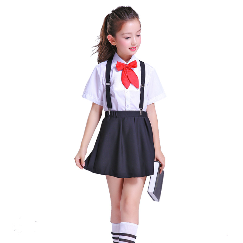 Children's School Uniform Set  New Style Boy And Girl Short-sleeved Suit Stage Performance Costume Two/piece Set