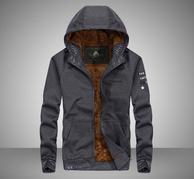 Hoodie dos homens casaco grosso - 2