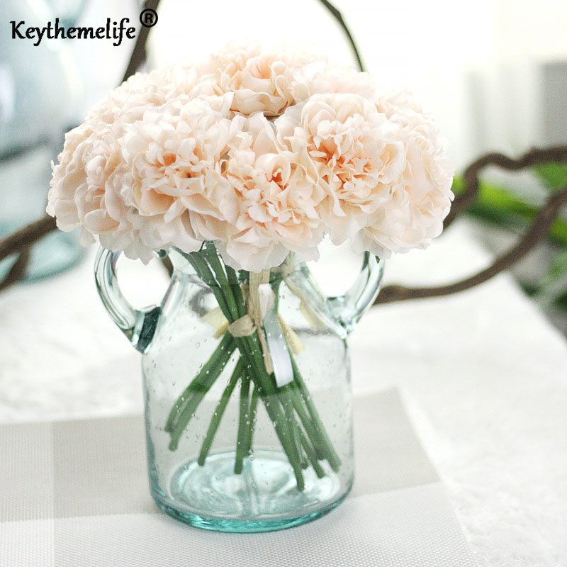 Artificial Flowers Silk Flowers Fake Leaf Hydrangea Peony Simulation Plant Wedding Decoration Home Decor Party Ornaments