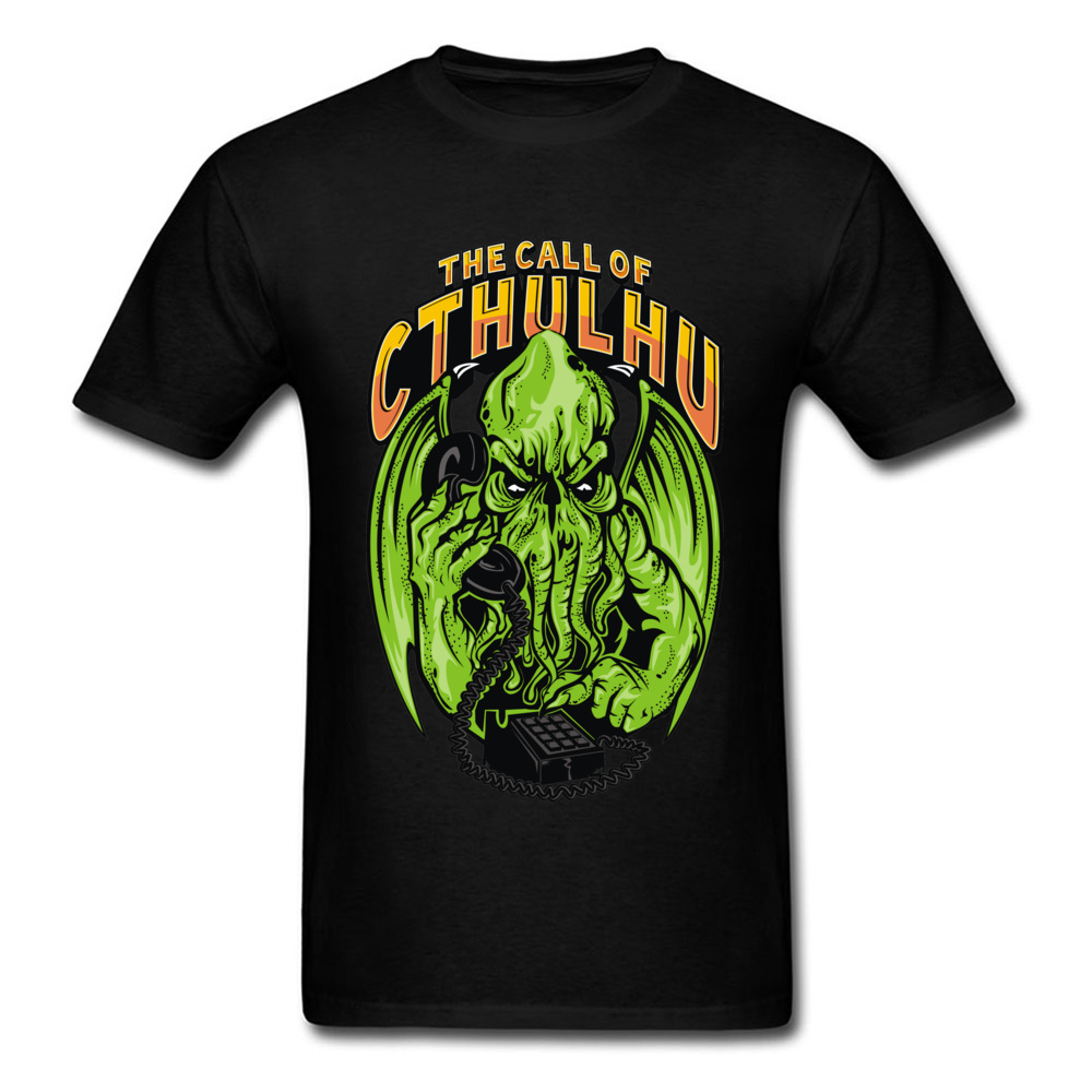 Monster Tshirt Green The Call Of Cthulhu T-Shirt New Arrival Men's Top Quality Brand Casual Tee Shirt Cotton Movie T Shirt Best