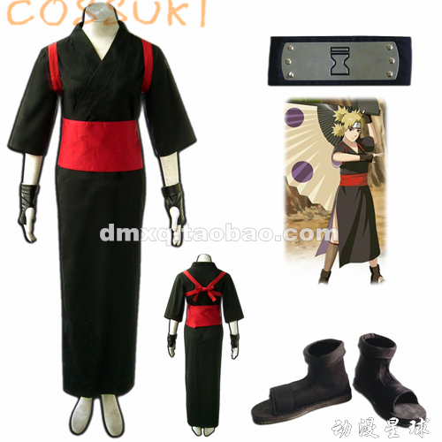 Free Shipping Newest Stock Naruto Temari Full Set Cosplay Costume Suits Perfect Custom For you Can