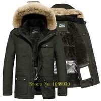 AFS JEEP Russia Winter Jacket Men Intelligent Design Smart Heating Temperature Controllable Fur Collar Parka Men 40 Degree