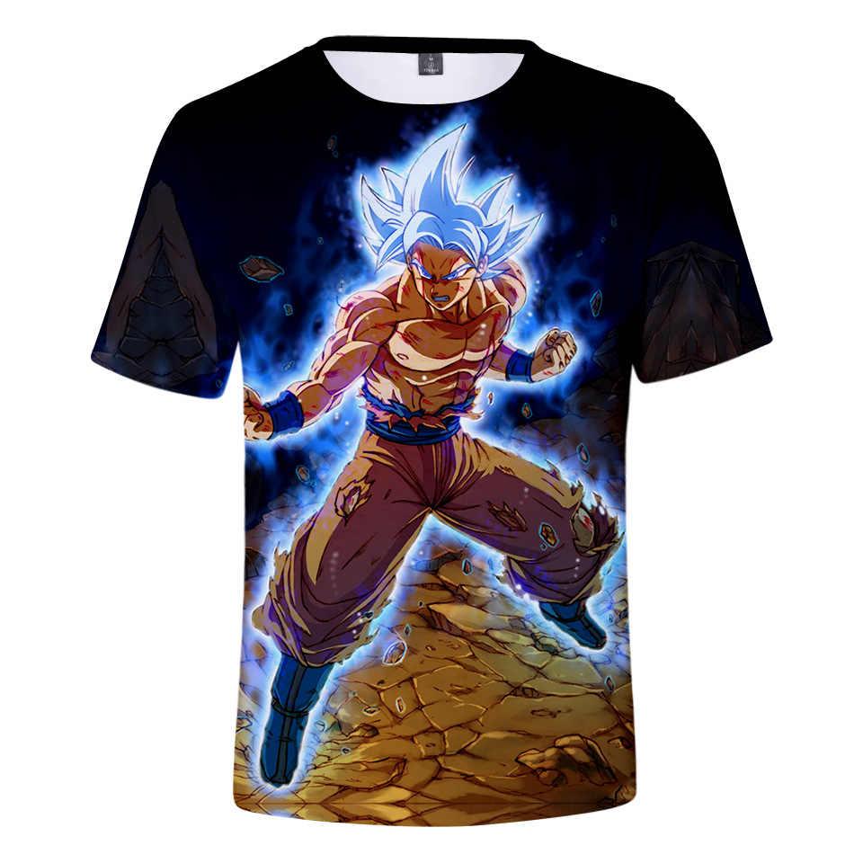 Dragon Ball Мужская 3D футболка для женщин Dragon Ball Z Goku Broly забавная Футболка Лето Супер Saiyan японский аниме футболки унисекс Homme