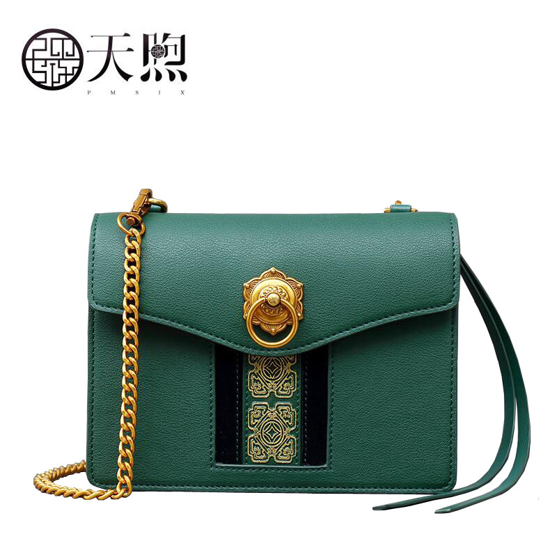Pmsix 2017 new fashion Chain exquisite Embossed luxury handbags women bags designer leather women handbags shoulder bag pmsix autumn winter new women leather handbags embossed flower luxury designer shoulder bags fashion vintage tote bag p110023