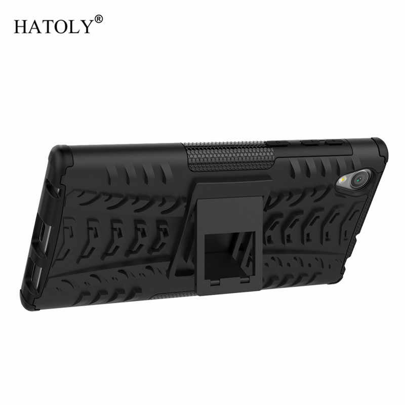 Dla pokrywy Sony Xperia L1 Case Anti-knock Heavy Duty pancerz pokrywa dla Sony L1 silikonowy telefon zderzak Case dla Sony Xperia L1 G3312
