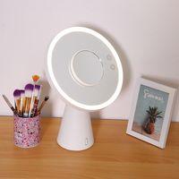 Многофункциональный светодиодный зеркальный светильник для макияжа увеличенный свет с Bluetooth аудио настольная лампа USB зарядное устройство