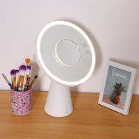 Multifunctional LED Makeup Mirror Lamp Magnify Light up with Bluetooth Audio Table Lamp USB Charger